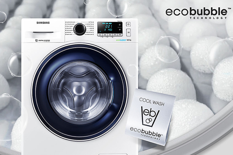 Деликатная стирка в стиральной машине Samsung EcoBubble